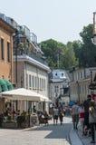 Small town street Norrtalje Sweden Royalty Free Stock Image