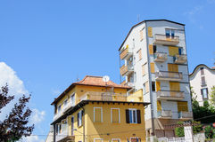 Small town street view in Como Lake Italy Royalty Free Stock Photography