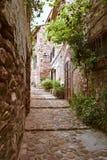 Small town street. Vilafames. Valenciann community Royalty Free Stock Image