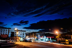 Small Town Streets At Evening Stock Images