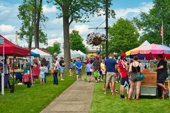 Small town summer festival Stock Photo