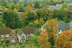 Small town of Sutton in Surrey, UK. Picturesque autumn in Sutton, Surrey, south London, UK Stock Photos