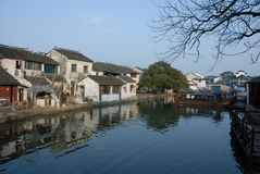 Small town in Suzhou China Royalty Free Stock Photography