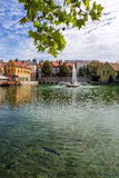 Small town Tapolca (Hungary) Royalty Free Stock Images