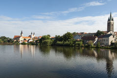 The small town of telc czech republic europe Stock Images