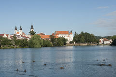 The small town of telc czech republic europe Stock Photo