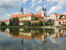 Small Town Telc (UNESCO) Royalty Free Stock Photo