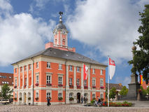 The Baroque town hall of Templin in the Uckermark Royalty Free Stock Photos