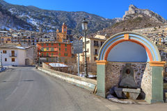 Small town of tende in Alps. Royalty Free Stock Photo