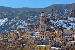 Small town of tende in Alps. Stock Image