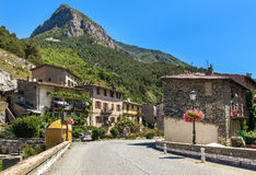 Small town of Tende, France. Royalty Free Stock Photos