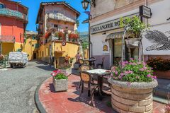 Small town of Tende, France. Stock Image