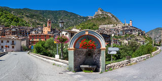 Small town of Tende in France. Stock Photography