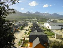 Small town in tierra del fuego argentina Royalty Free Stock Images