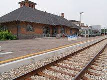 Small town train station Royalty Free Stock Photography