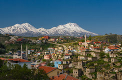 Small town in the Turkish province Royalty Free Stock Photo