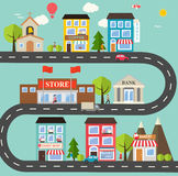 Small town urban landscape Royalty Free Stock Photography
