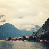 The small town of Varenna vintage effect. Lake Como, Italy. Stock Photography