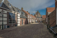 In a small town. Veere, Netherlands Stock Image