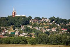 Small town Vilkija, Lithuania Royalty Free Stock Images