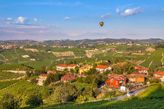 Small town and vineyards in Italy. Stock Photography
