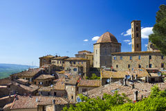 Small town Volterra in Tuscany Royalty Free Stock Photography