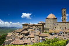 Small town Volterra in Tuscany Royalty Free Stock Images