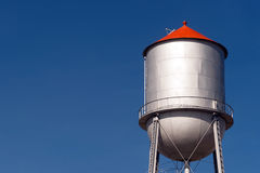 Small Town Water Tower Utilitiy Infrastructure Storage Reservoir stock photos