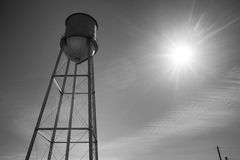 Small Town Water Tower Utilitiy Infrastructure Storage Reservoir Stock Image