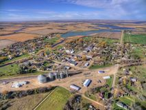 Small Town Willow Lake in Rural South Dakota captured by Drone stock photos