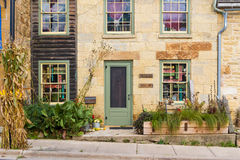 Small Town WIndows. MINERAL POINT, WISCONSIN, USA - SEPTEMBER 22, 2016: This third-oldest town in the state, a historic mining area, is now known for art stock image