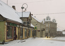 Small town in a winter season. Stock Images
