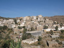 Small town in Yemen Stock Images