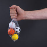 Small toy balls isolated Stock Photography