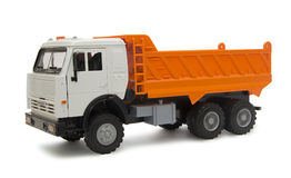 Toy lorry. Small toy lorry isolated on white background royalty free stock images