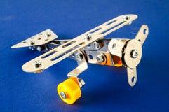 Small toy metal plane airplane Stock Photo