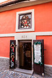 Small toy shop at the Golden Lane in Prague Castle. Royalty Free Stock Photos