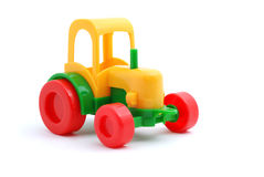 Small toy tractor isolated on white Stock Image