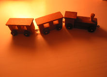 Small toy train Stock Photography