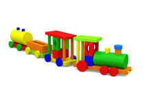 Small toy train vector illustration