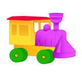 Small toy train from the designer. royalty free illustration