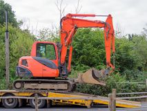 Small tracked Excavator royalty free stock image