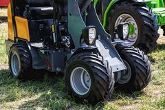 Small tractor agriculture industry Stock Photo