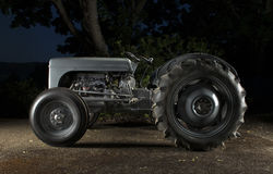Small Tractor at Night Stock Photography