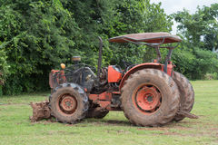 Small tractor parking Royalty Free Stock Images