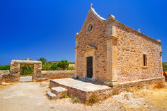 Small traditional church on Crete Stock Photography