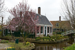 Small traditional Dutch house in a village, the Netherlands Stock Photo