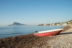 Altea bay with fishing boats Royalty Free Stock Photo