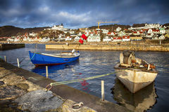 Small traditional fishing village in sweden Royalty Free Stock Photo