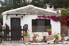 Small traditional greek house Stock Photo